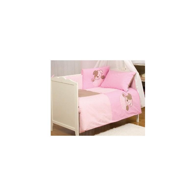 Komplet pościeli 135/100 BabyMatex Good Night różowy - 3 elementy