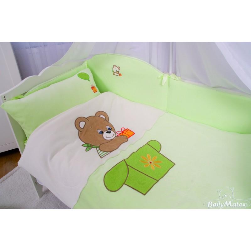 Komplet pościeli 135/100 BabyMatex Bears Collection zielony - 3 elementy