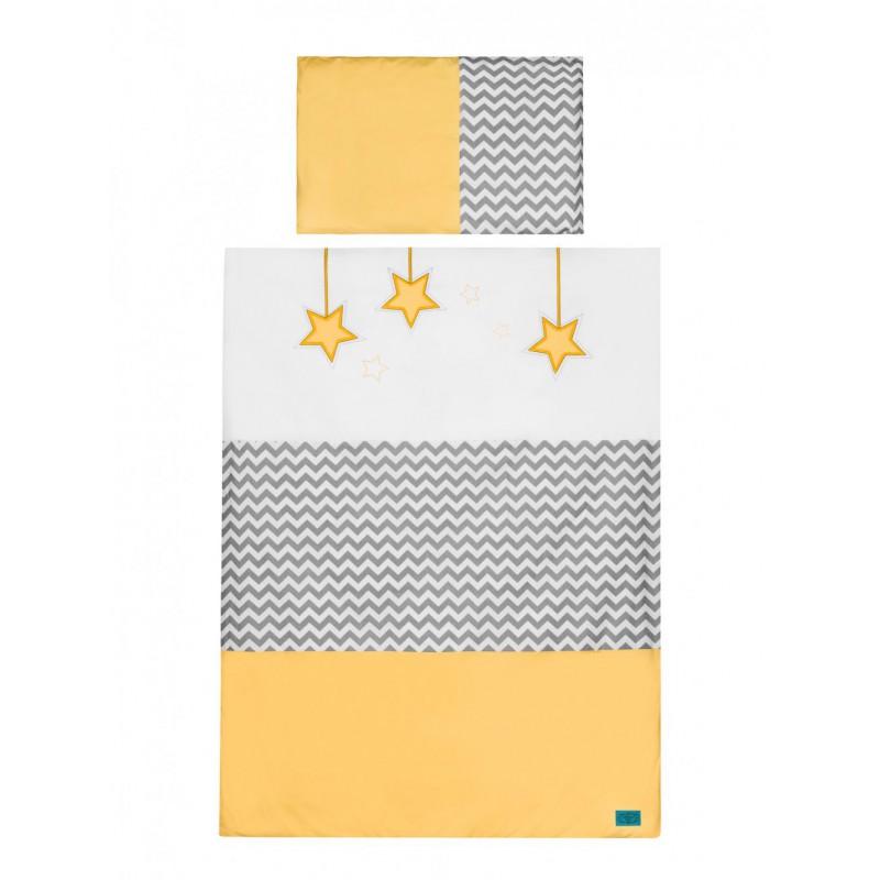 Pościel Belisima 120/90 Gwiezdny Pył Żółty - 2 elementy